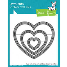 Lawn Fawn - Outside In Stitched Heart Stackables - Stanze