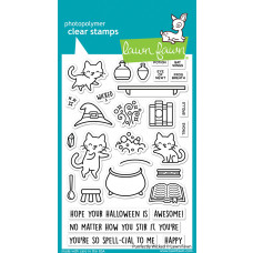Lawn Fawn - Purrfectly Wicked - Clear Stamps 4x6