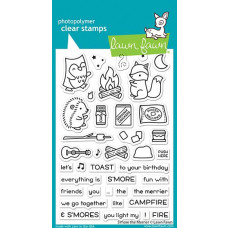 Lawn Fawn - S'more The Merrier - Clear Stamps 4x6
