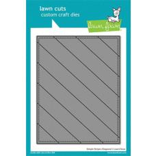 Lawn Fawn - Simple Stripes: Diagonal - Stand Alone Stanze