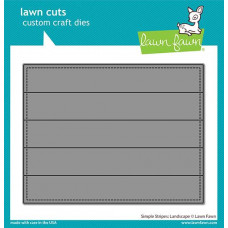 Lawn Fawn - Simple Stripes: Landscape - Stand Alone Stanze