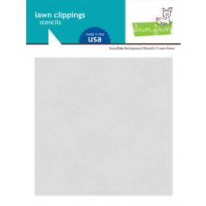 Lawn Fawn - Snowflake Background - Layer Schablonen