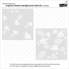 Lawn Fawn - Tropical Leaves Background - Layer Schablonen