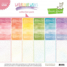 Lawn Fawn - Watercolor Wishes Rainbow - Collection Pack