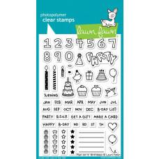 Lawn Fawn - Plan On It: Birthdays - Clear Stamp 4x6