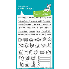 Lawn Fawn - Plan On It - Vacation - Clear Stamp 4x6
