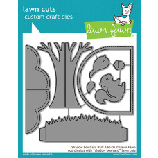Lawn Fawn - Shadow Box Card Park Add-On - Stanze