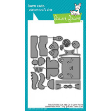 Lawn Fawn - Tiny Gift Box Cat Add-On - Stanze