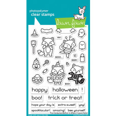 Lawn Fawn - fox costumes before 'n afters - Clear Stamp 4x6