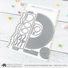 Mama Elephant - Slim Scenescape Rainbow Add On - Stand Alone Stanze