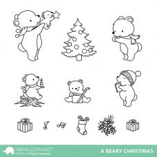 Mama Elephant - A Beary Christmas - Clear Stamps 4x6