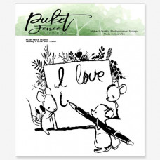 Picket Fence Studios - A Little Love Note - Clear Stamps 4x4