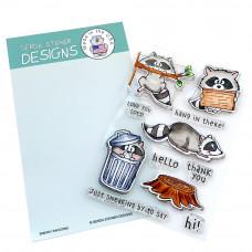 Gerda Steiner Designs - Sneaky Racoons - Clear Stamps 4x6