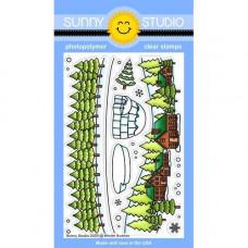 Sunny Studio - Winter Scenes - Clear Stamps 4x6