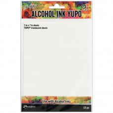 Ranger - Tim Holtz Alcohol Ink Yupo Papier translucent 5 x 7 Inch - 10 Seiten