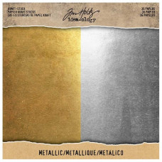 Tim Holtz - idea-ology - Kraft-Stock Metallic 8x8