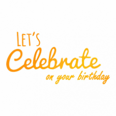 Ultimate Crafts - Celebrate your Birthday -  Hotfoil Stamp