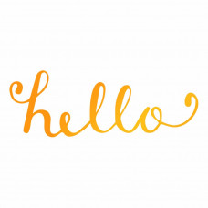 Ultimate Crafts - Hello -  Hotfoil Stamp