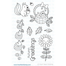 Your Next Stamp Stempelset 4x6 - Autumn Greetings 1
