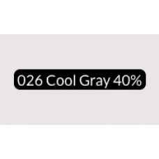 Spectra Ad Marker - 026 Cool Gray 40%