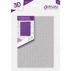 3D Embossing Folder A6 - Basket Weave - Gemini