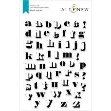 Altenew - Block Alpha - Clear Stamp 6x8