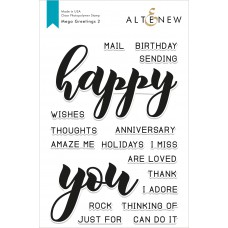 Altenew - Mega Greetings 2 - Clear Stamp 6x8