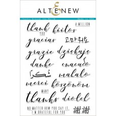 Altenew -  Thanks Around The World - Clear Stamps 6x8