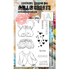 AALL and Create - A6 Stamps - Love Birds