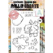 AALL and Create - A6 Stamps - Monster 19