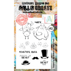 AALL and Create - A6 Stamps - Monster 53