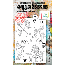 AALL and Create - A6 Stamps - Rocking Corns