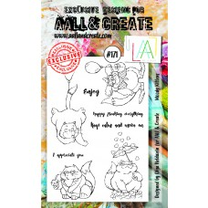 AALL & Create - A6 Stamps - Moody Kittens