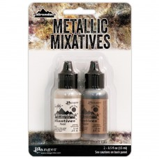 Alcohol Ink Tim Holtz - Metallic Mixatives Set - Pearl & Copper
