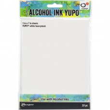 Tim Holtz Alcohol Ink White Yupo Paper 10/Pkg