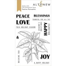 Altenew - Festive Poinsettia - Clear Stamp 4x6