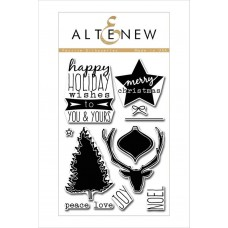 Altenew - Festive Sihlouettes - Clear Stamps 4x6