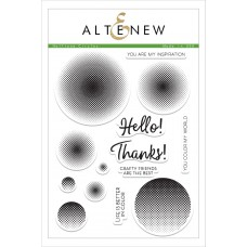 Altenew - Halftone Circles - Clear Stamps 6x8