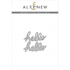 Altenew - Handwritten Hello - Stanze