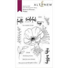 Altenew - Paint-A-Flower Poppy - Clear Stamps 4x6