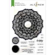Altenew - Pen Sketch Mandala- Clear Stamp 6x8