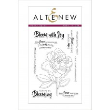 Altenew - Peony Spray - Clear Stamp 4x6