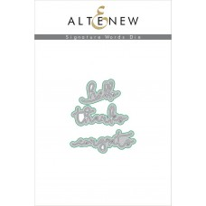 Altenew - Signature Words  - Stanzen