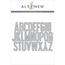 Altenew - Fine Alphabet - Stanze
