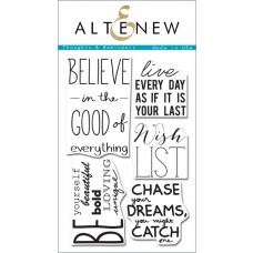 "Altenew - Stempelset 4x6"" - Thoughts & Reminders"
