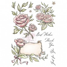 Wild Rose Studio - Antique Roses A5 Clear Stamp