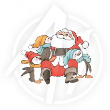 Art Impressions - Santa & Penguins - Rubberstamp Set