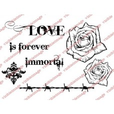 clear stamps visible image Immortal Love für scrapbooking & cardmakings