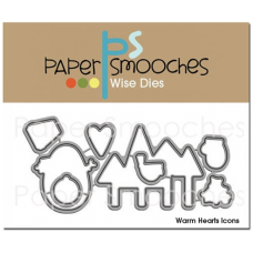 paper smooches wise dies Warm Hearts scrapbook cardmaking