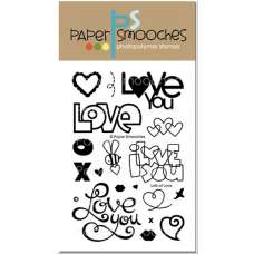 Paper Smooches - Lots Of Love - Clearstamps für scrapbook und cardmaking